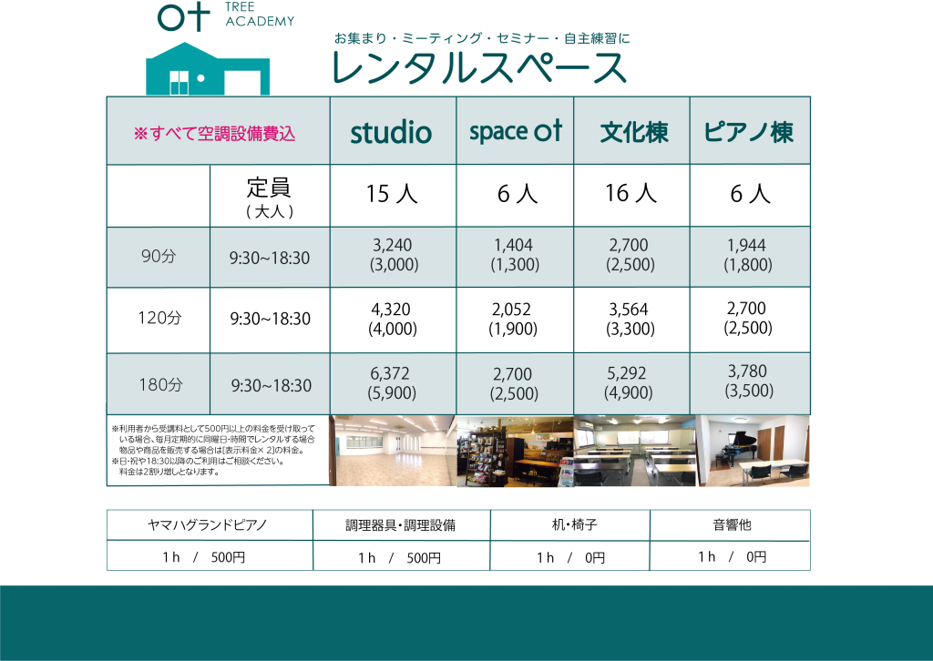 レンタルspaceデータ